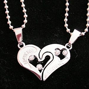 2pc Couples I Love You Necklace Set